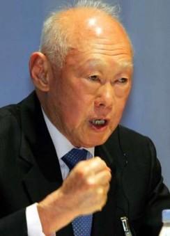 Lee Kuan Yew fist